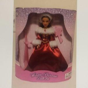 Winter Princess Doll Set- Beautiful Red Dress- NIB